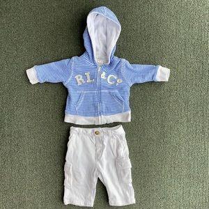 Ralph Loren 3 month jacket & pant set